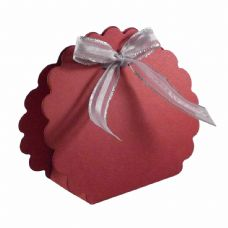 Wine Red Scalloped Clam Designer Favour Boxes